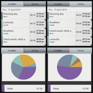 Schedule planner collage