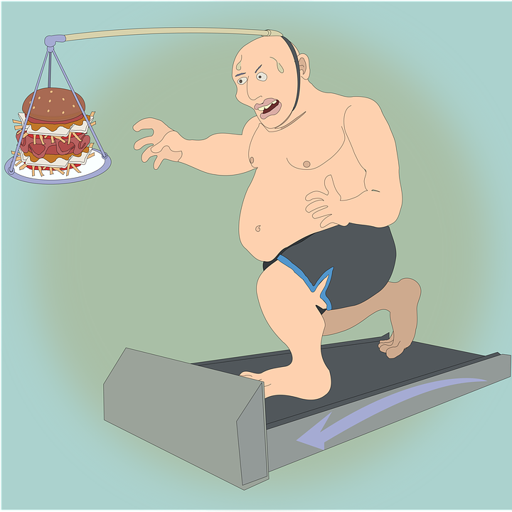 fat man exercising